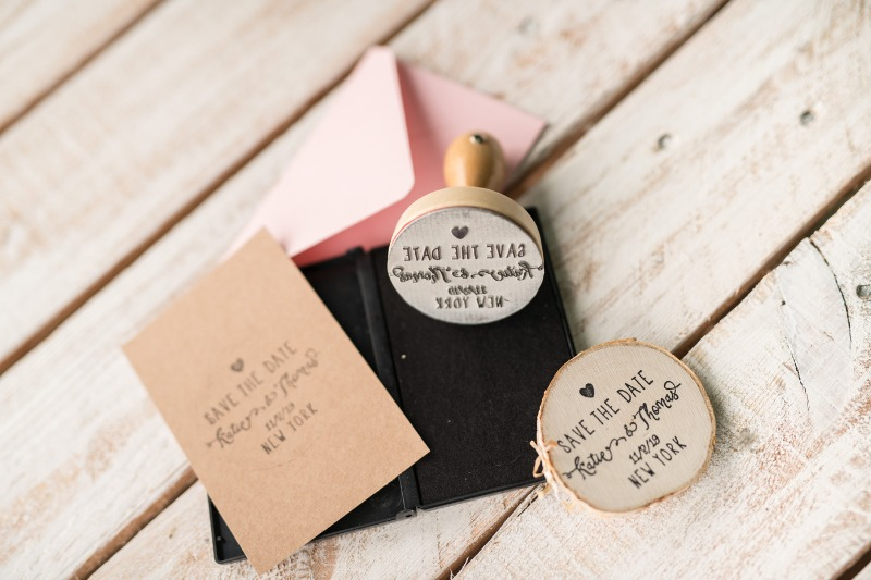 Save the date - wood stamp
