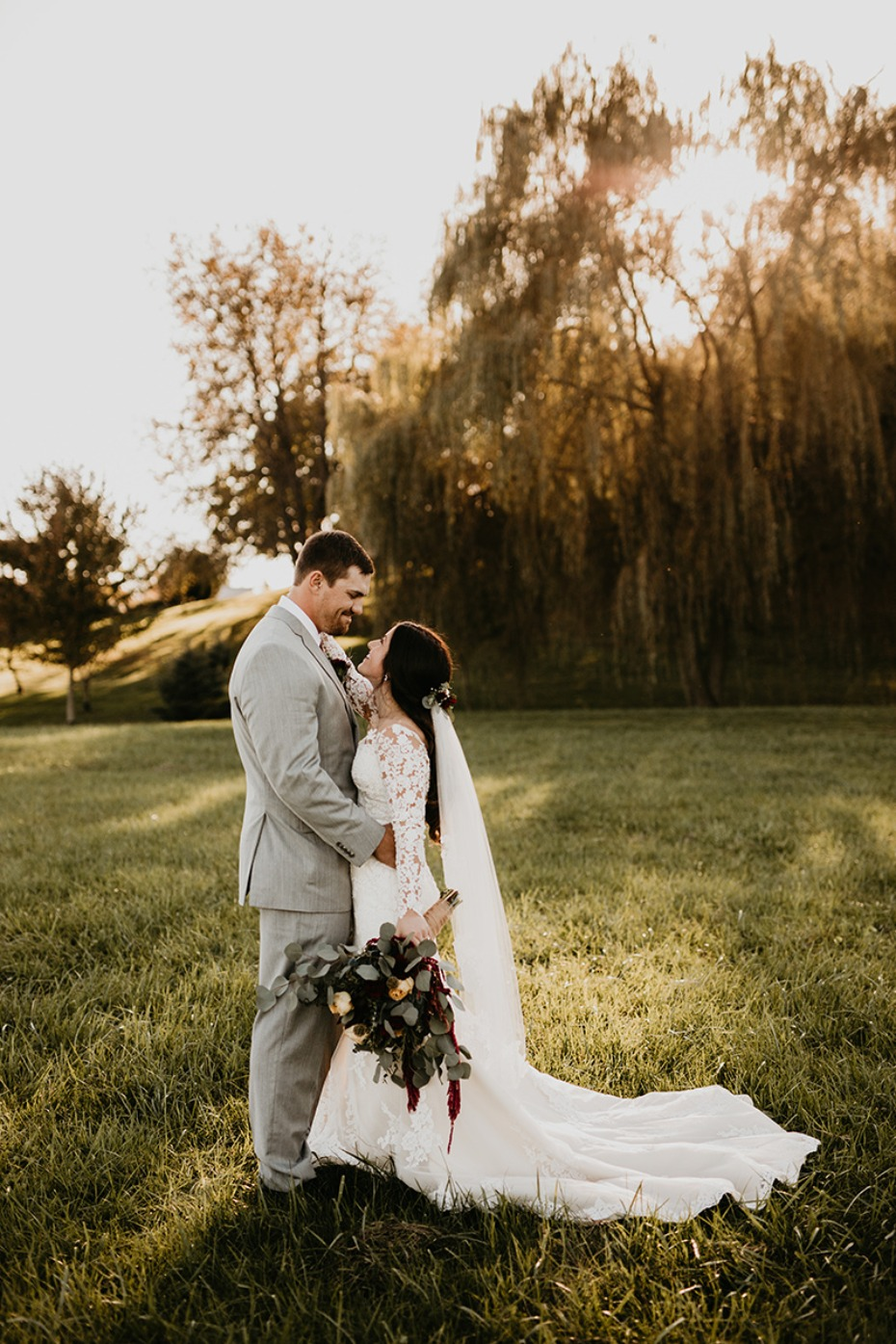 Moody romance wedding with DIY florals