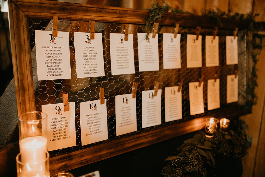 Chicken wire seating chart