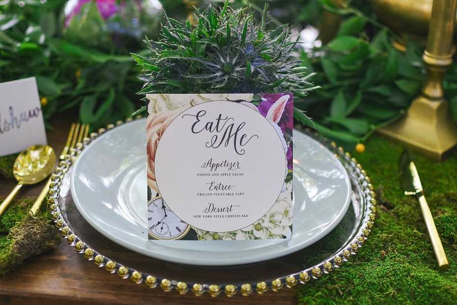 eat me wedding menu