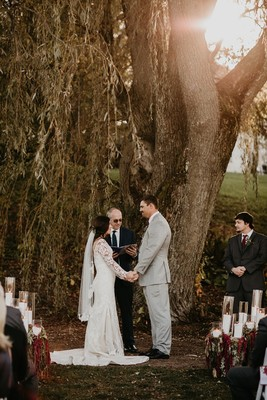 Moody Outdoor Romance Wedding with Gorgeous DIY Flowers