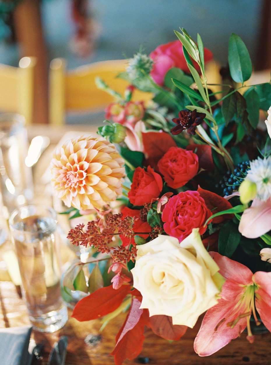 fall inspired wedding floral decor