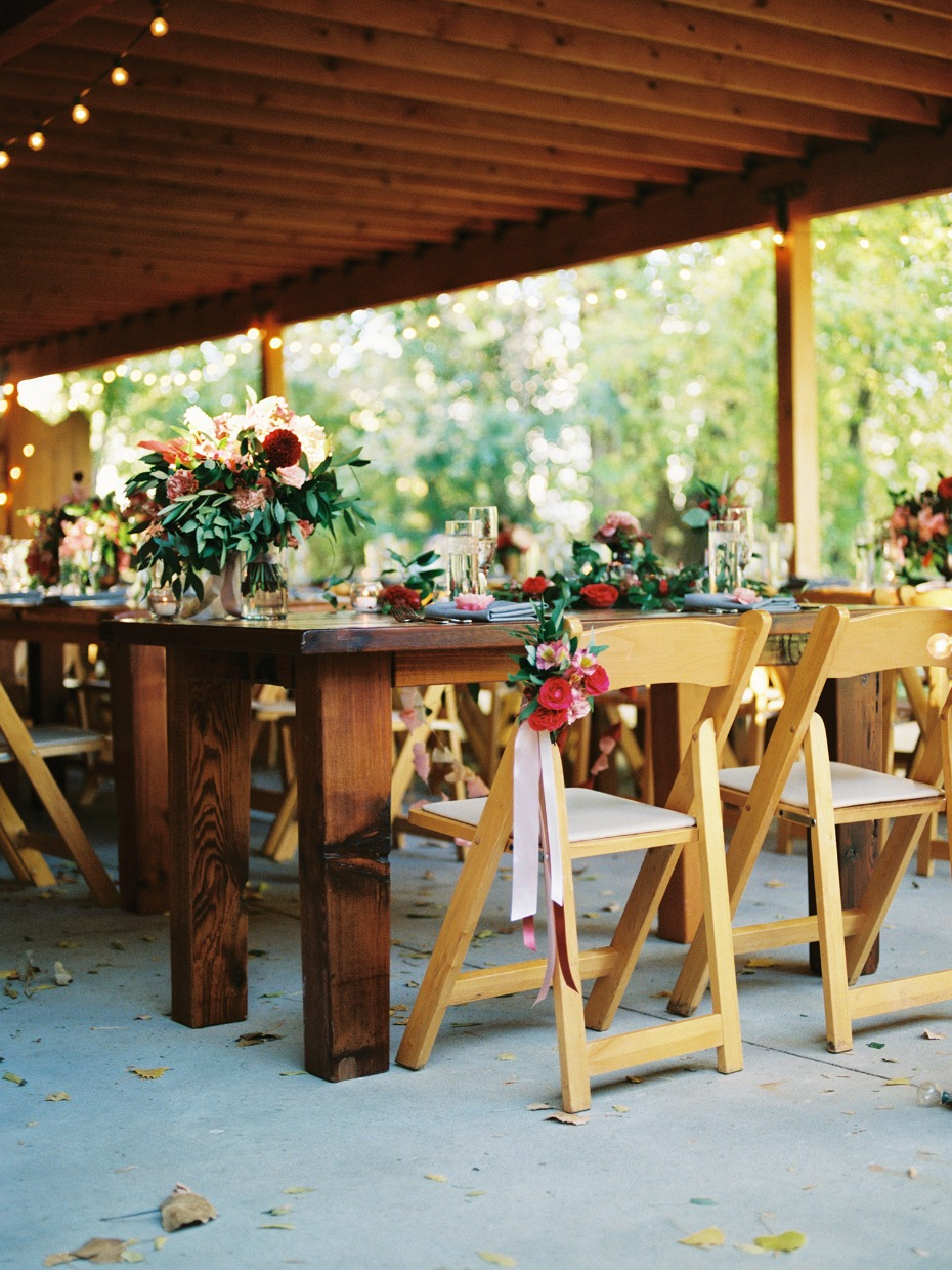 indoor outdoor wedding reception