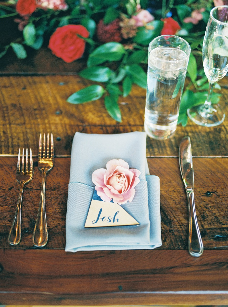 boho chic wedding table place setting