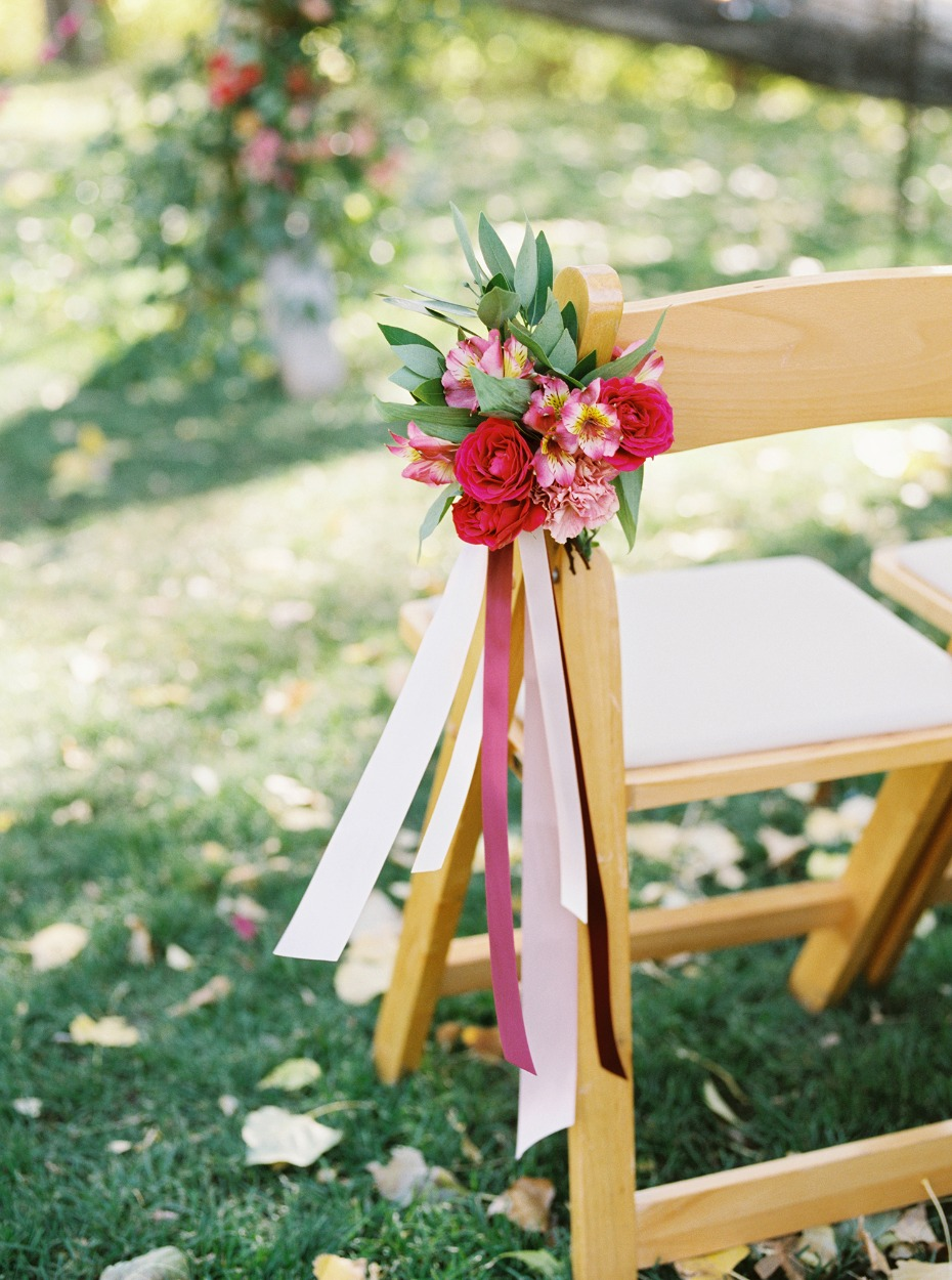 outdoor floral aisle decor