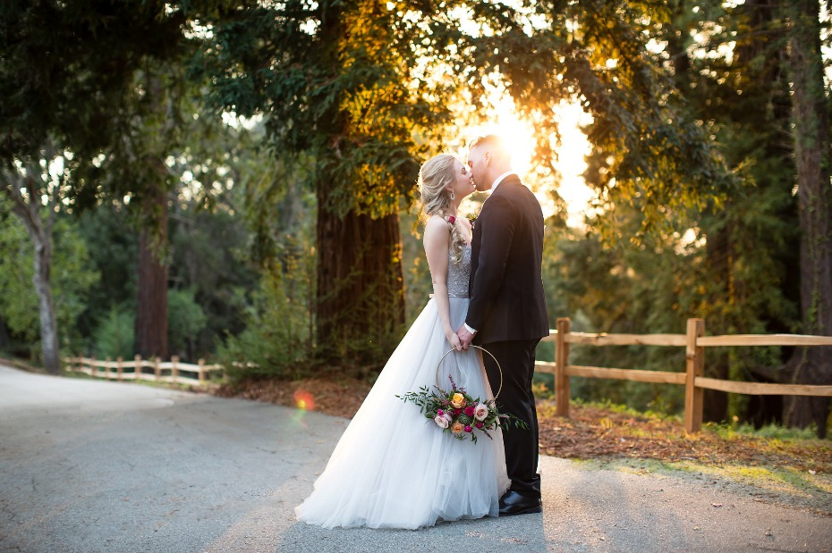 sunset wedding inspiration in Santa Cruz