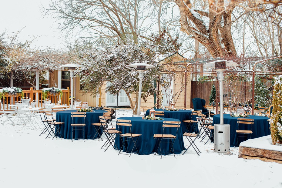 Outdoor winter reception