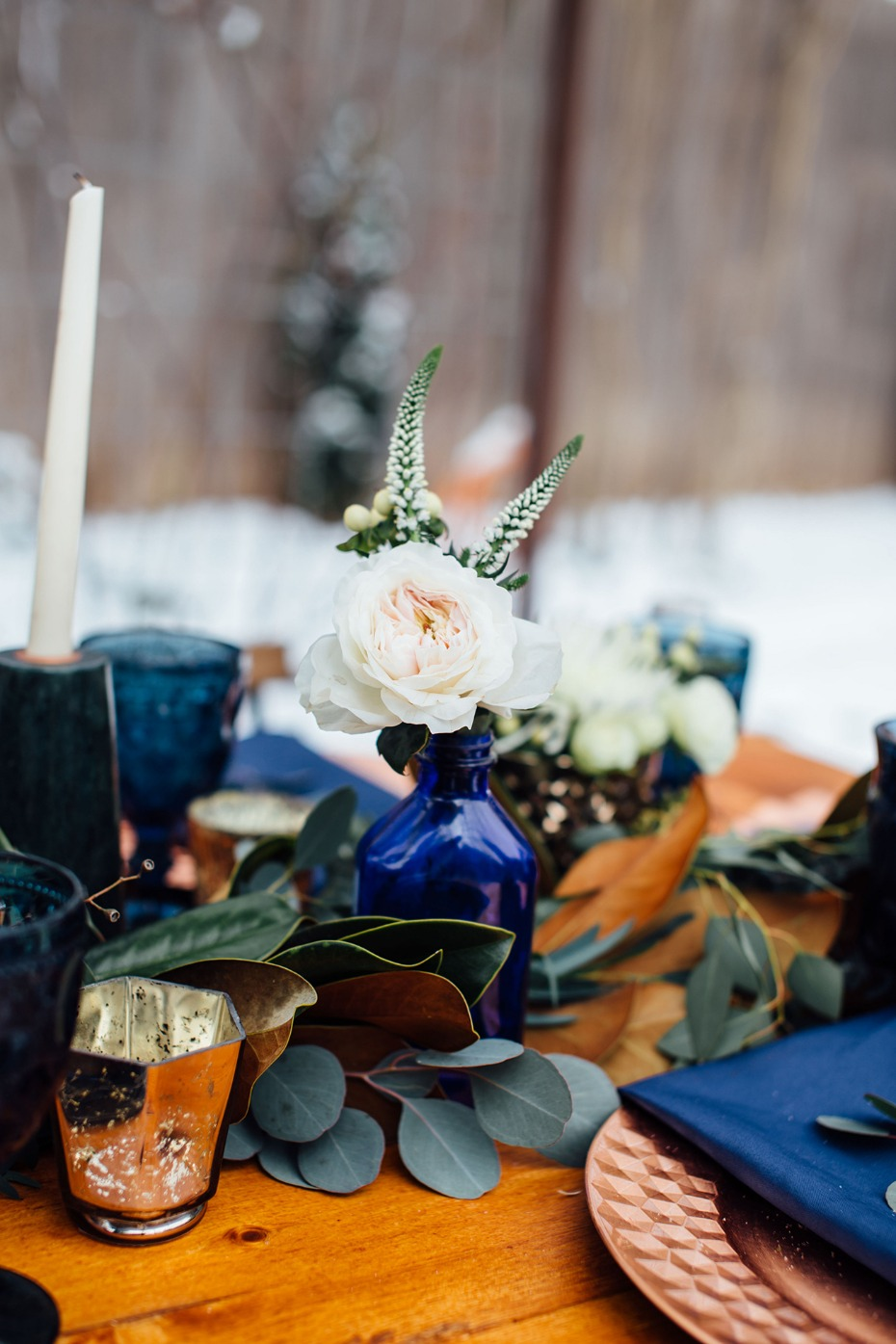 Mix and match centerpiece idea