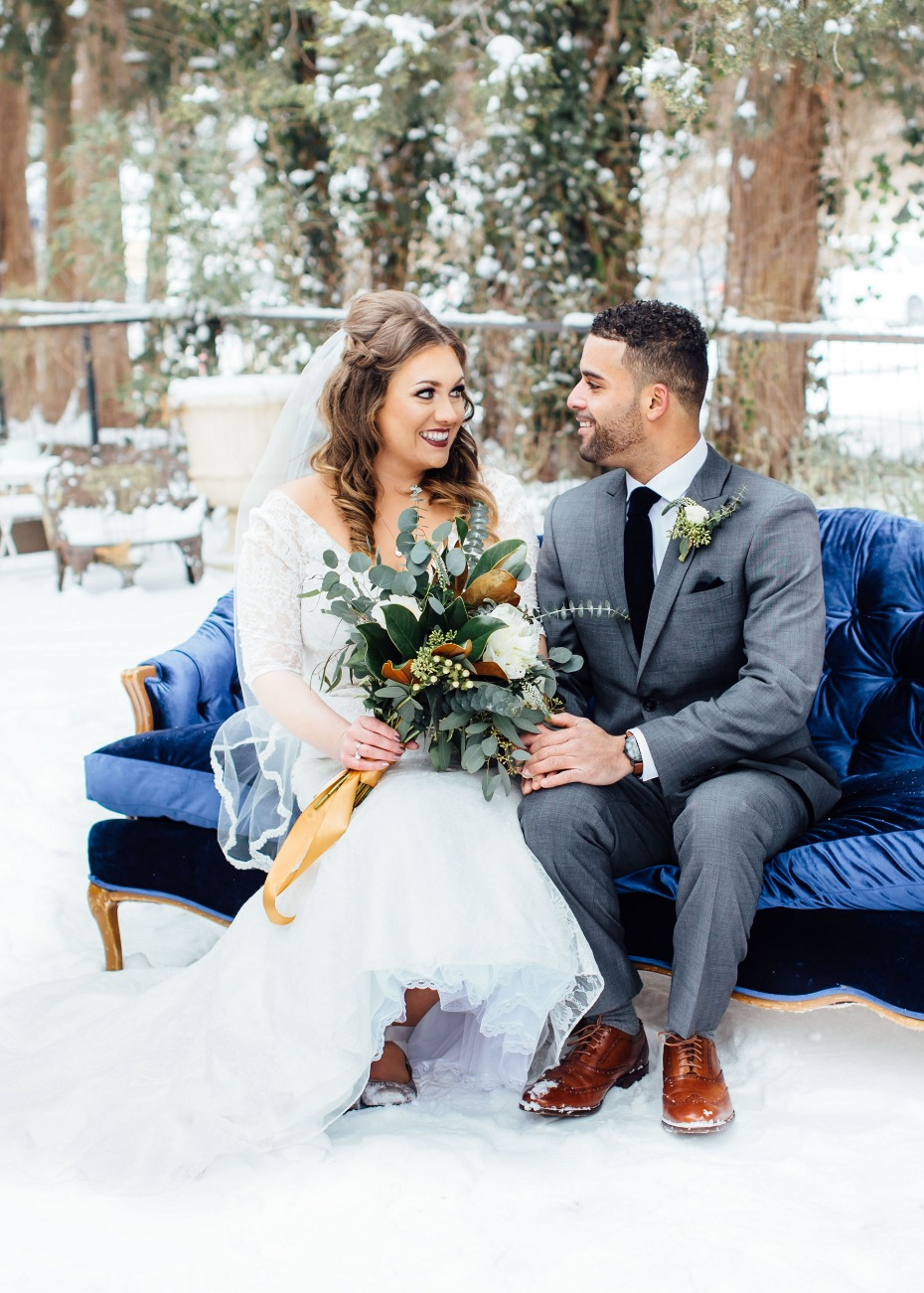 Beautiful outdoor winter wedding