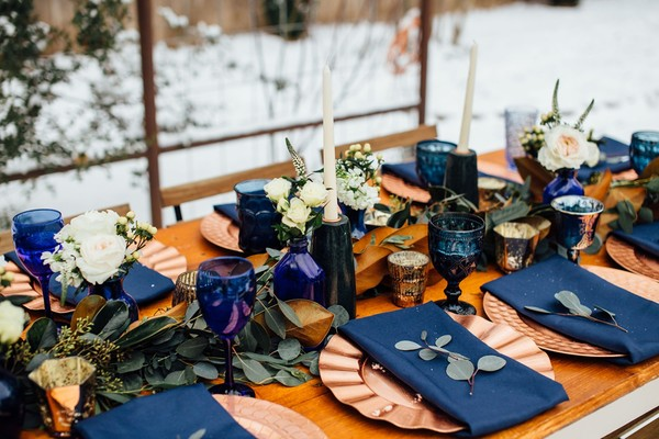 A Surprise Snow Storm Made this Wedding a Winter Wonderland