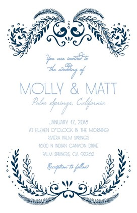 Ornate Free Printable Wedding Invitation