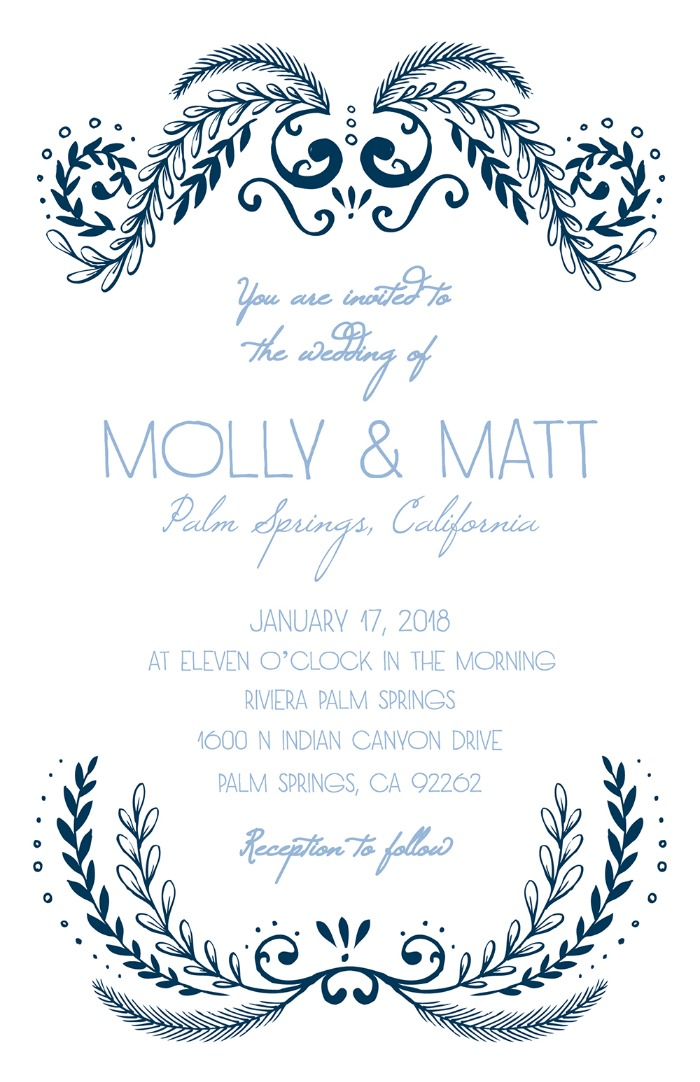 Print: Ornate Free Printable Wedding Invitation