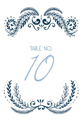 Ornate Free Printable Table Numbers