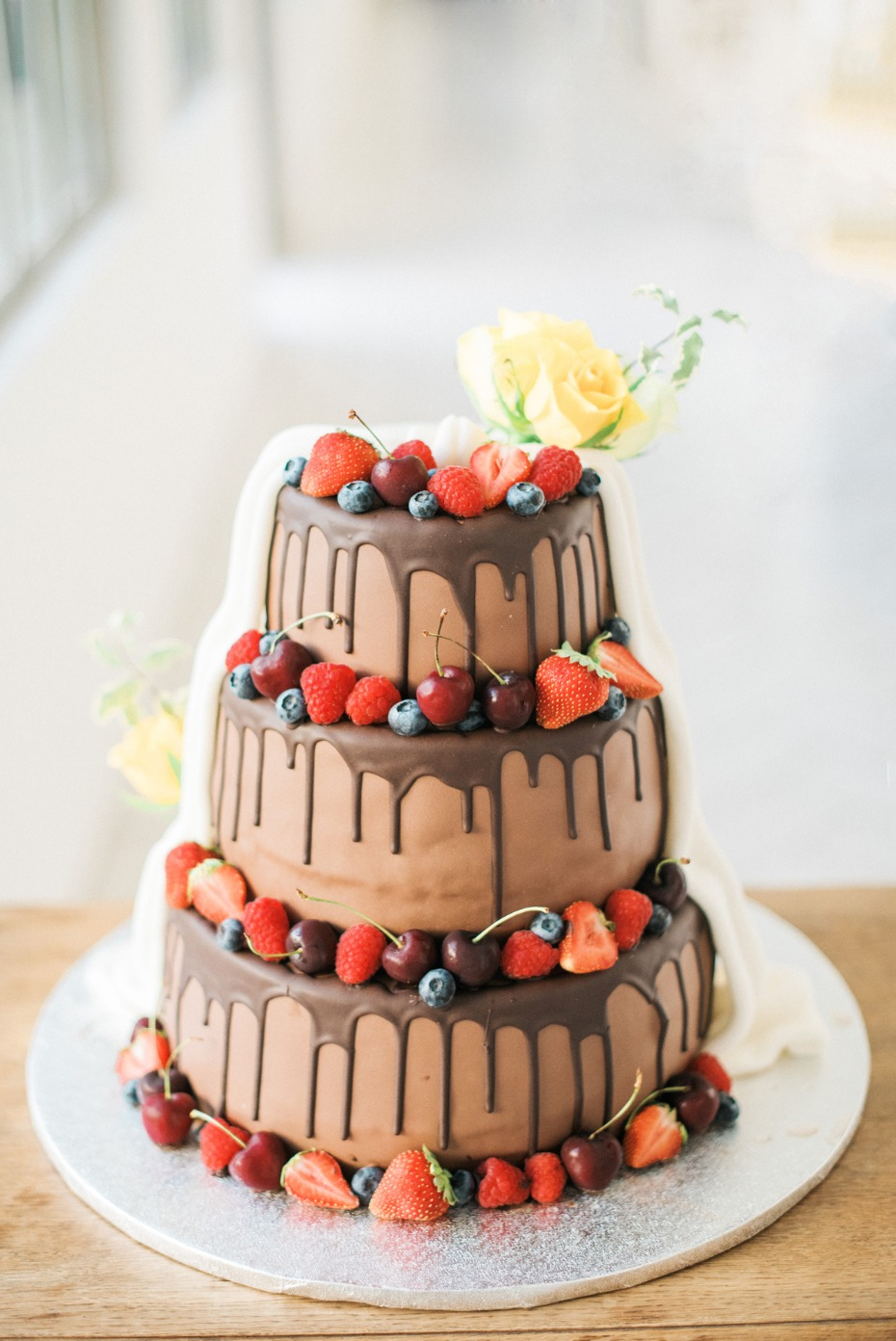 Half and half wedding cake design