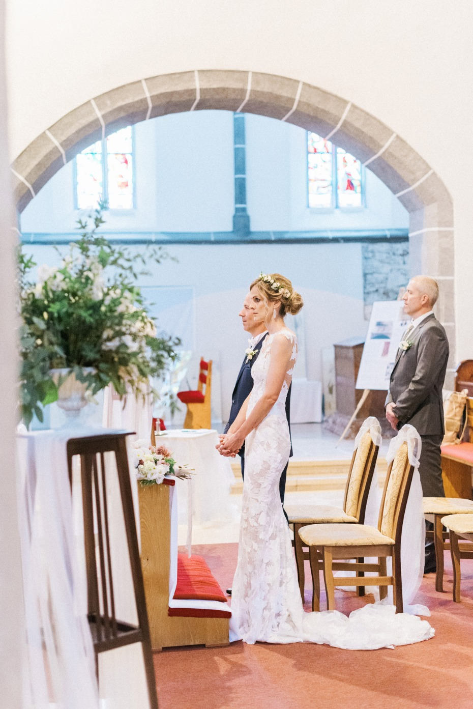 Romantic church ceremony