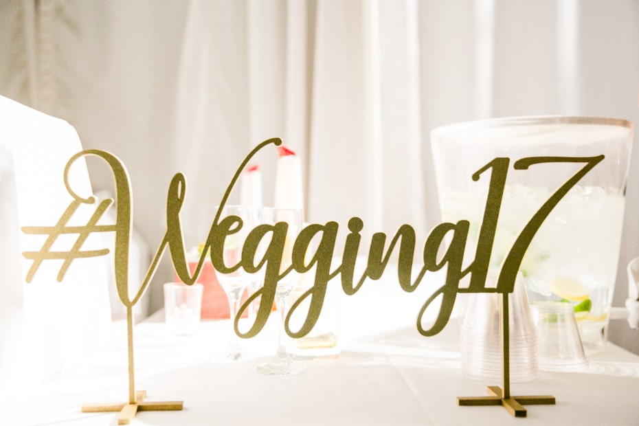 Wegan wedding sign