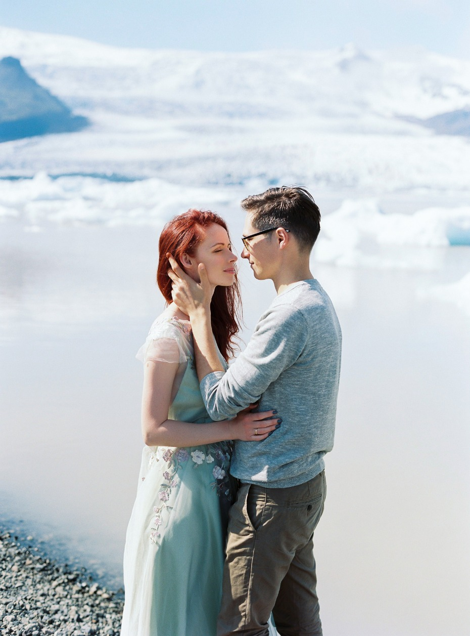 engagement photo session at Icelands Blue Lagoon