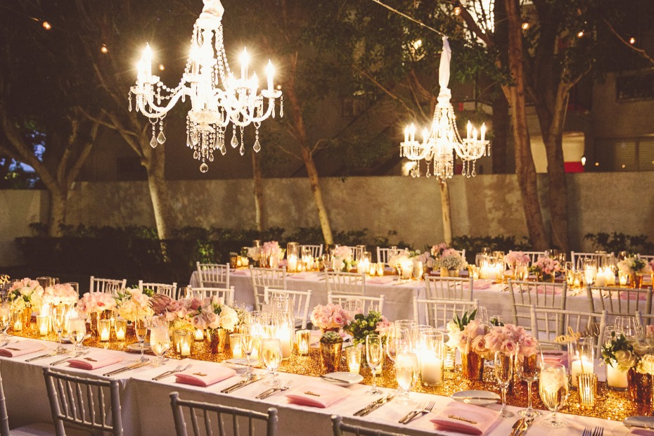 Dazzling glam reception