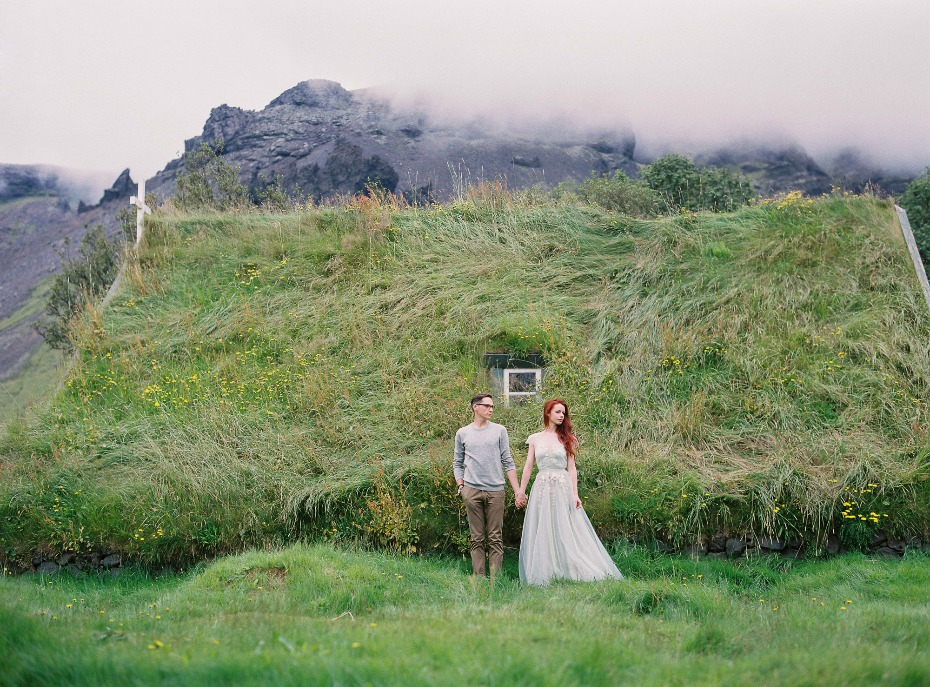 wild and free engagement shoot in Iceland
