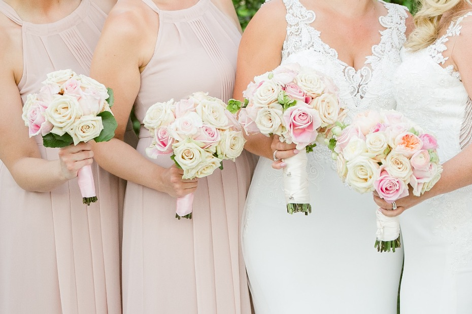 Blush and creme bouquets