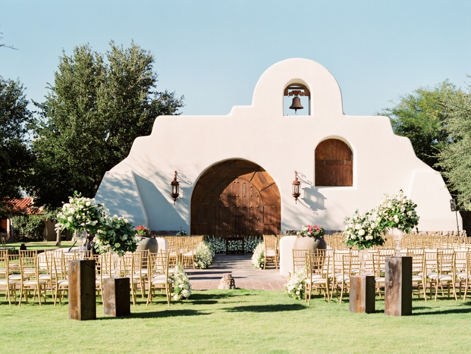 Beautiful ceremony location at Tubac Golf Resort