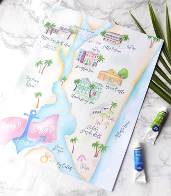 Turn Your Wedding Map Into A Beautiful Keepsake With Bohemian Mint
