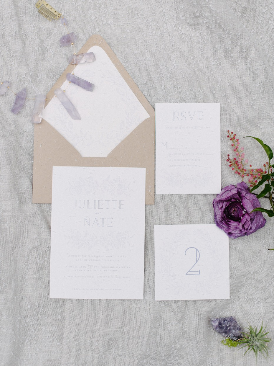 alternative modern style wedding invitations