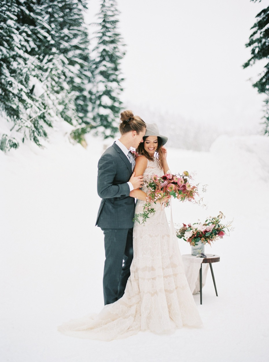 winter wedding ideas for an alternative boho couple