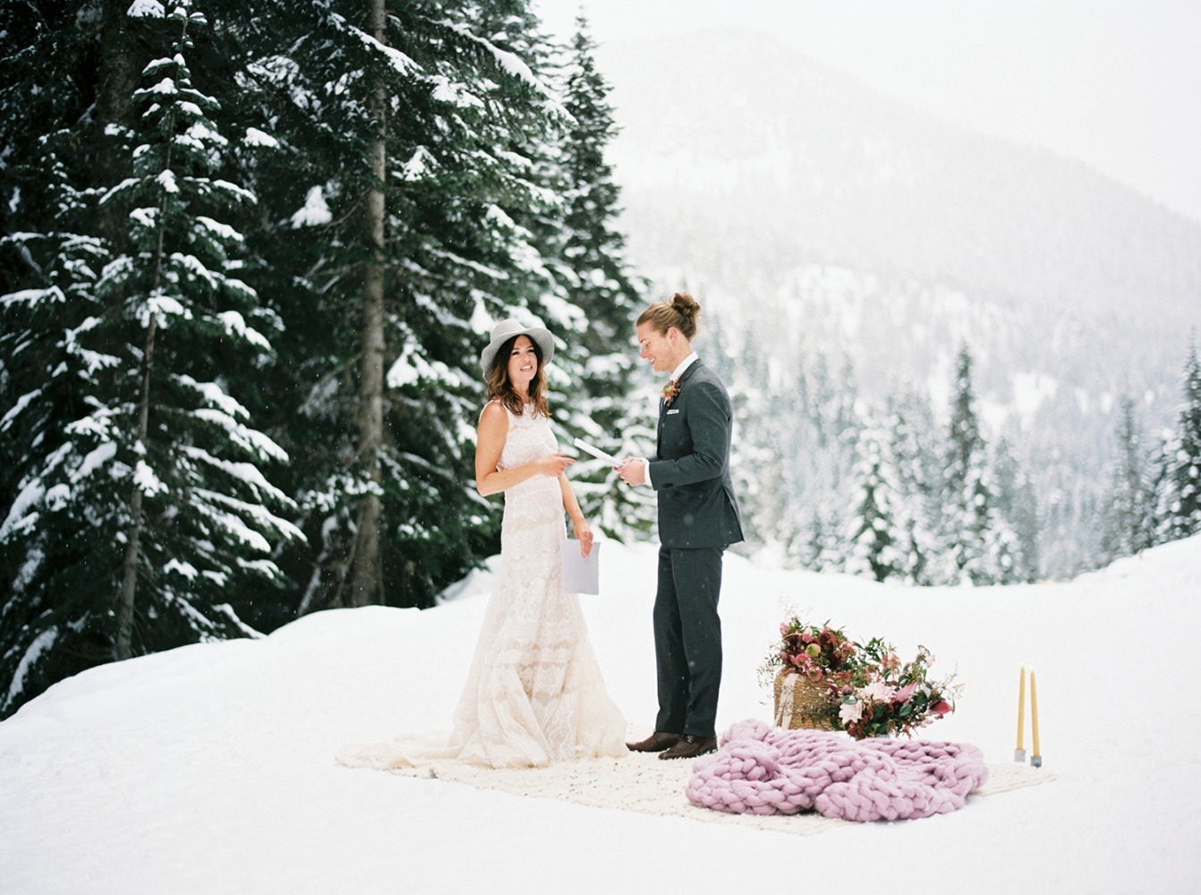 How To Have A Winter Wedding With An Alternative Boho Style
