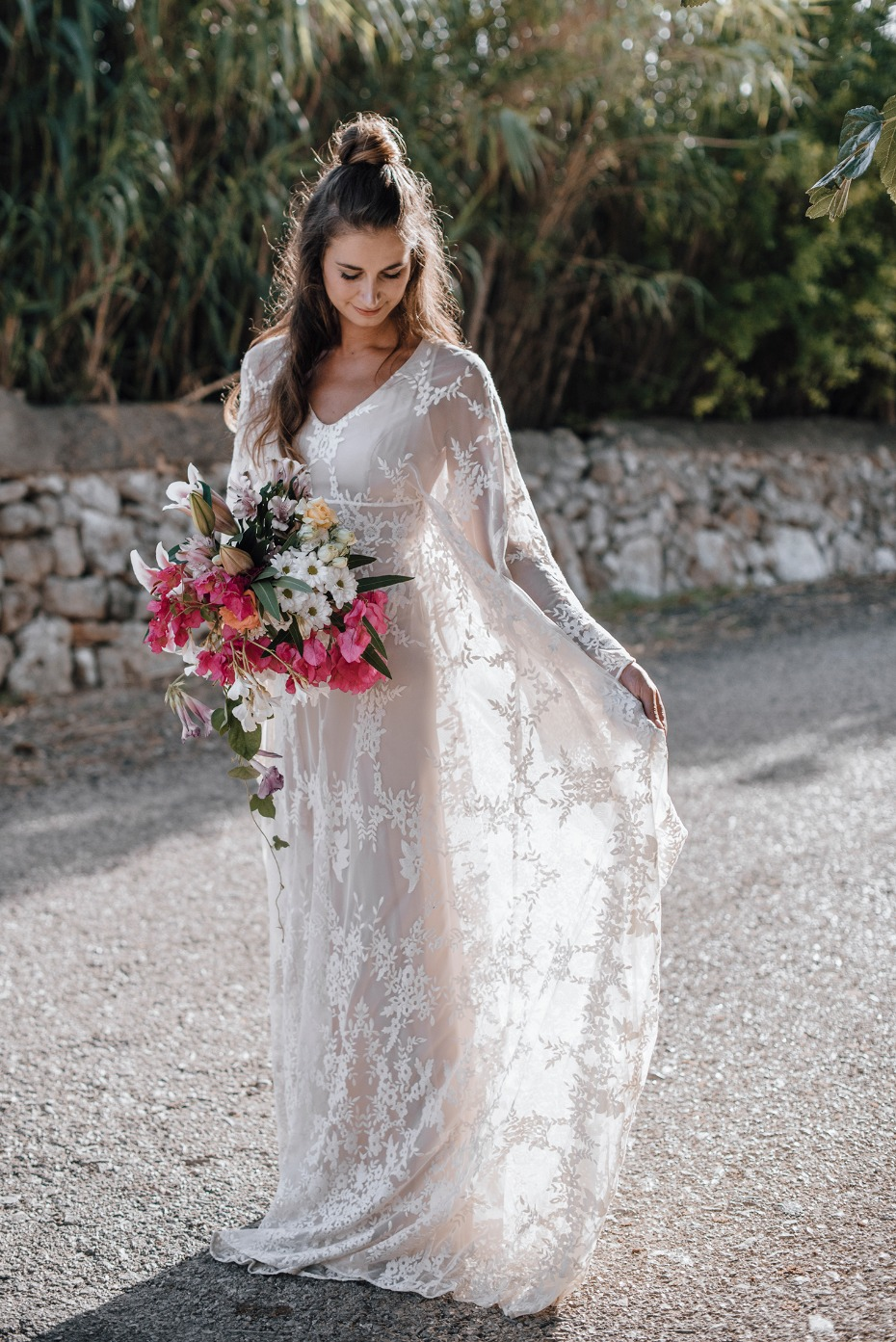 boho style wedding dress for your laid back bridal style
