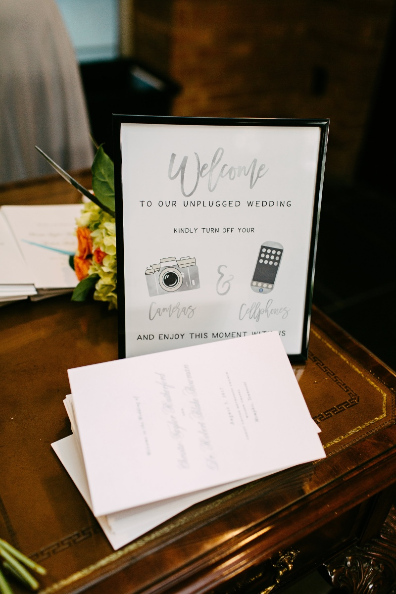 Having an unplugged wedding ceremony? This work of art is perfect for you! Your MDB designer will work with you one-on-one to make