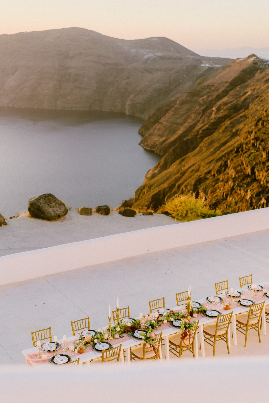 reception with a killer view