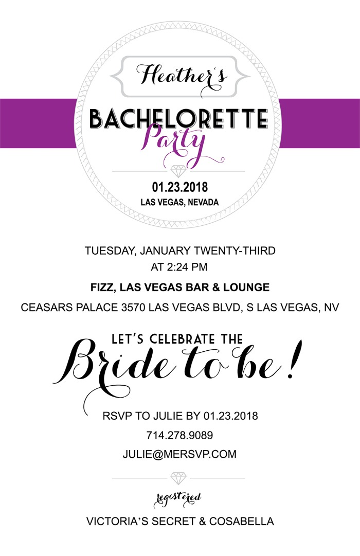 Print: Free Printable Bachelortte Party Invitations