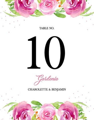 Free Printable Garden Party Table Number