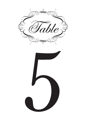 Free Fancy Printable Table Numbers