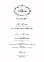 wedding-menu
