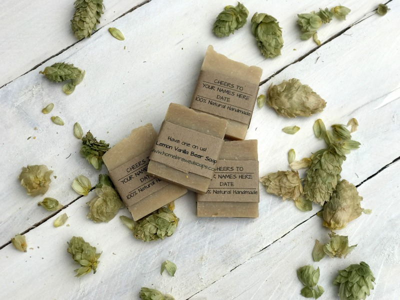 Learn more about our beer soap wedding favors!