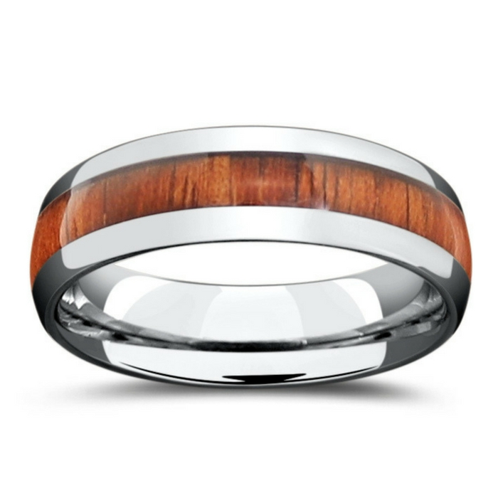 Mens 6mm tungsten wood wedding ring. This ring is Durable, waterproof, and comfortable.