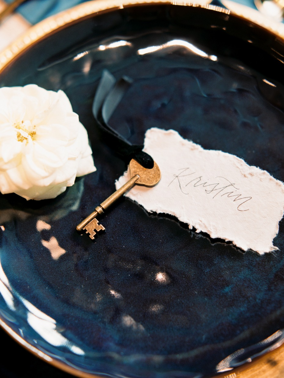 key and place card