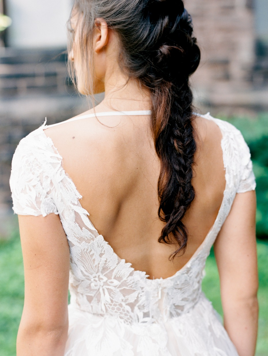 bride in L'Amour wedding dress