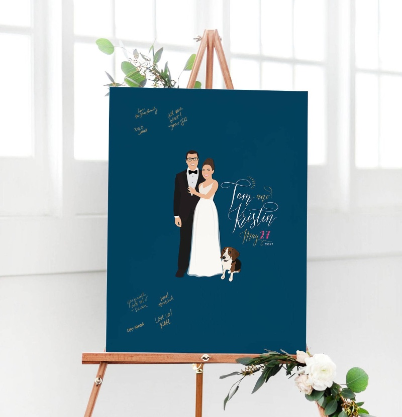 Miss Design Berry's wedding guest book alternative is a really fun way to capture the love of your wedding guests as they sign in at