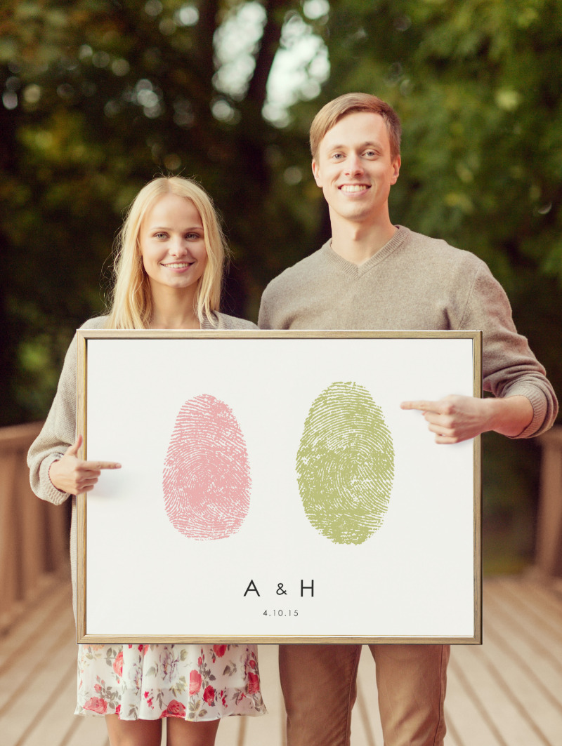 Fun save-the-date poster now, perfect guest book alternative at the wedding!
