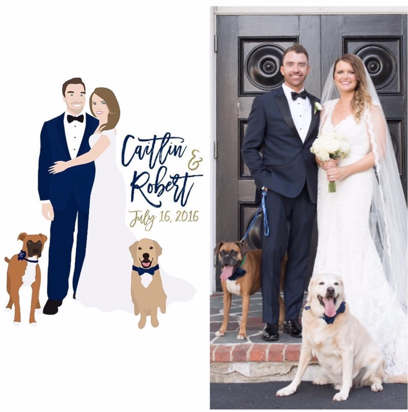 We LOVE working with our clients to create a custom work of art, with their pups included!!! The best part? This guest book alternative