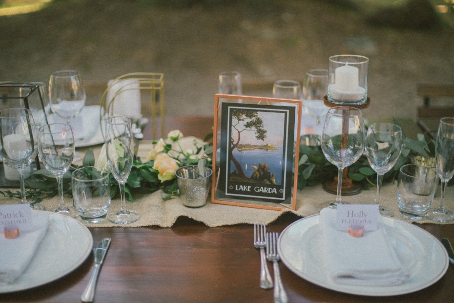 rustic seating table