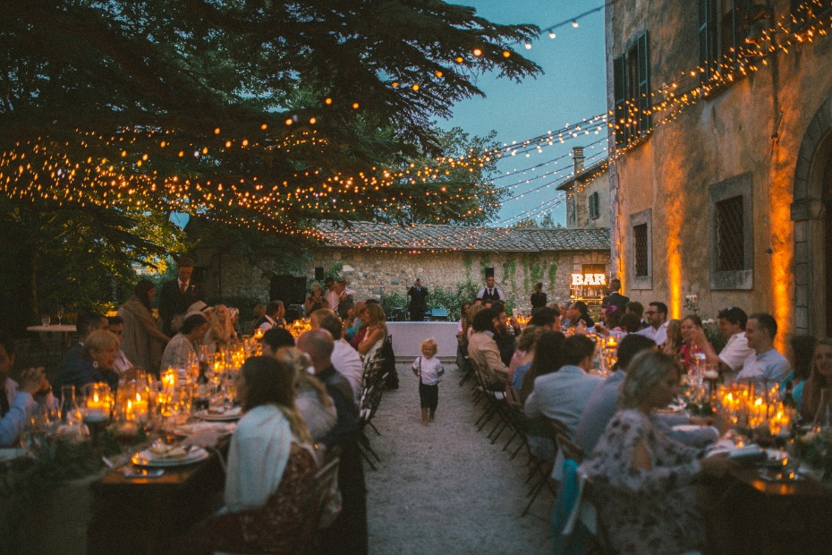 outdoor Tuscan wedding
