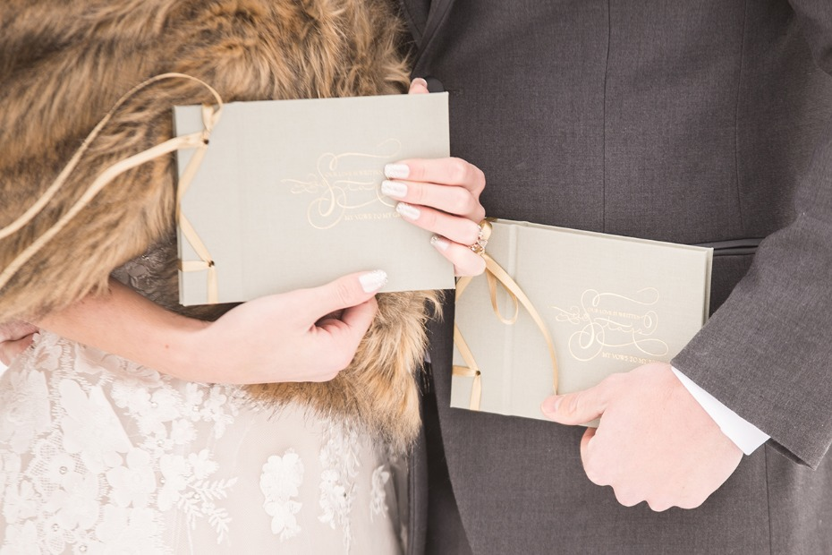 elegant wedding vow books