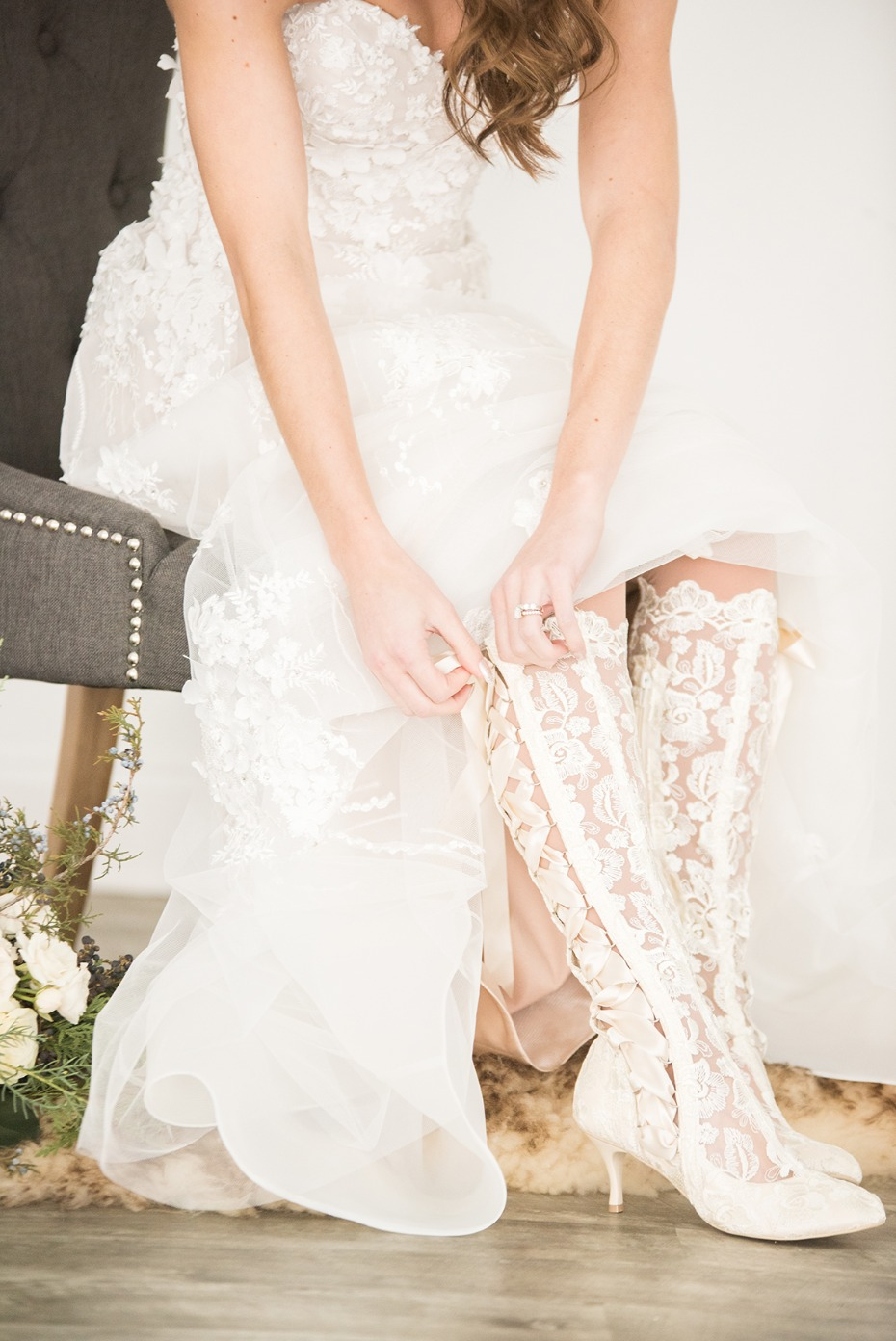 lace wedding boots that we are so in love with