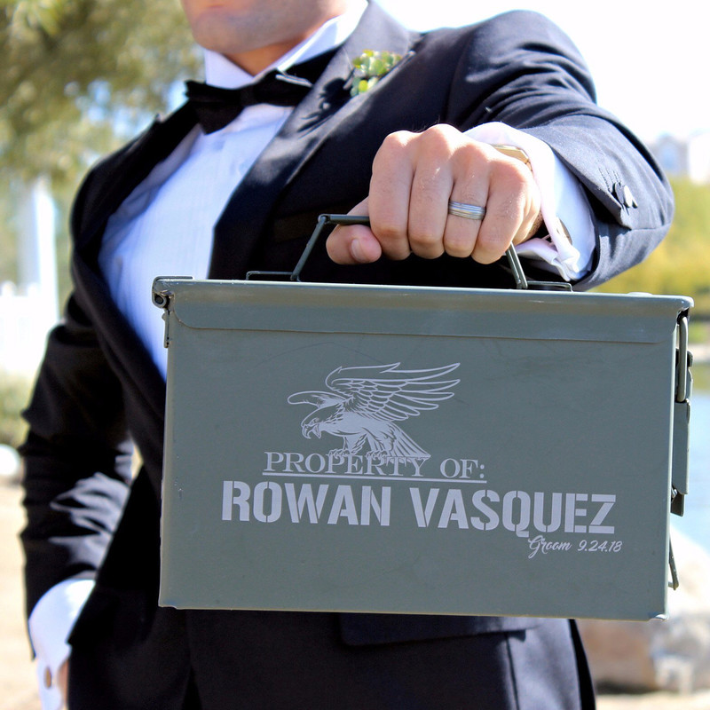 These ammo cans are SURE to impress the #groomsmen