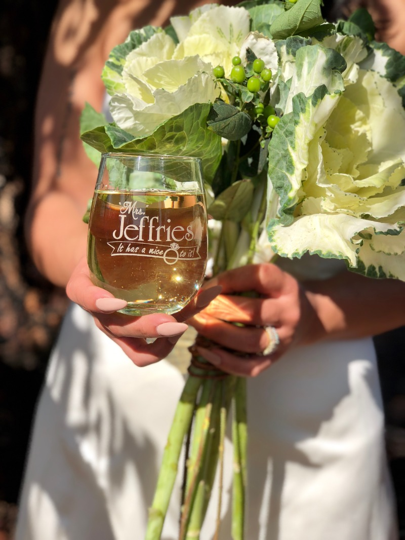 Engraved wine glasses for Brides and her bridal party starting at just $10 each - including personalization. Shop ScissorMill.com