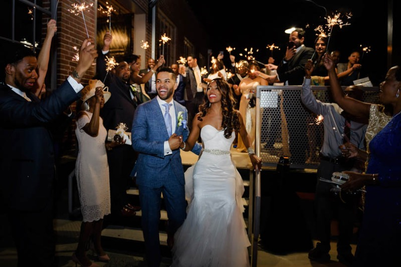 LOVE this fabulous wedding sparkler photo from a very talented photographer in Raleigh, NC. In His Image Photography captured the